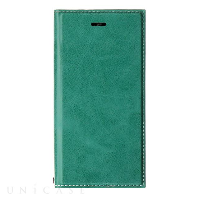【iPhone8/7 ケース】薄型PUレザーフラップケース「PRIME」グリーン
