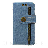 【iPhoneX ケース】Diary Case Denim (Bleach)