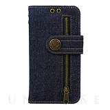 【iPhoneX ケース】Diary Case Denim (Indigo)
