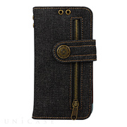 【iPhoneXS/X ケース】Diary Case Denim (Black)
