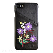 【iPhone8/7/6s/6 ケース】SLY 背面ケース EMBROIDER(BLACK)