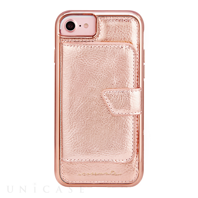 【iPhoneSE(第2世代)/8/7/6s/6 ケース】Compact Mirror Case (Rose Gold)