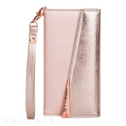 【iPhone8/7/6s/6 ケース】Wristlet Folio Case(Rose Gold)