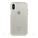 【iPhoneX ケース】Sheer Glam Case (Champagne)