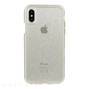 【iPhoneXS/X ケース】Sheer Glam Case (Champagne)
