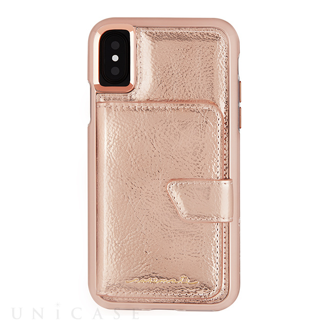 【iPhoneXS/X ケース】Compact Mirror Case (Rose Gold)