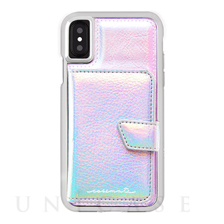 【iPhoneXS/X ケース】Compact Mirror Case (Iridescent)