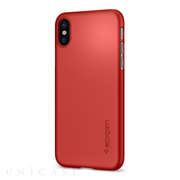 【iPhoneX ケース】Thin Fit (Metallic Red)