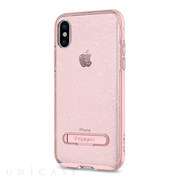 【iPhoneX ケース】Crystal Hybrid (Glitter Rose Quartz)