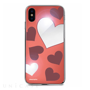 【iPhoneXS/X ケース】Heart MIRROR CASE (レッド)