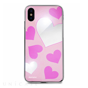 【iPhoneXS/X ケース】Heart MIRROR CASE (ピンク)
