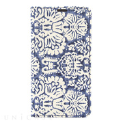 【iPhoneX ケース】Denim Paisley Diary