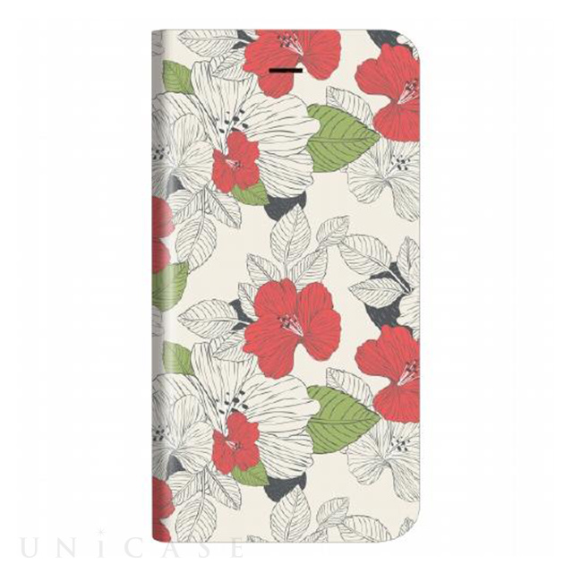 c9bd49a431 【iPhone8/7 ケース】薄型デザインPUレザーケース「Design+」 Flower モダン