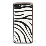 【iPhone8/7 ケース】Zebra Calf Hair Bar