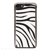【iPhoneSE(第2世代)/8/7 ケース】Zebra Calf Hair Bar