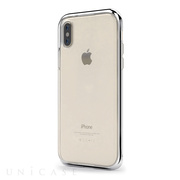 【iPhoneX ケース】INFINITY CLEAR CASE (Silver)