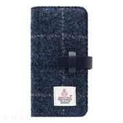 【iPhoneX ケース】Harris Tweed Diary (ネイビー)