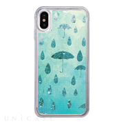 【iPhoneXS/X ケース】Sparkle case (Raining day)