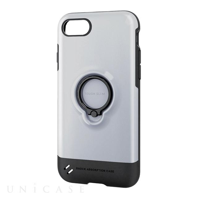 e66c54bd2c iPhone8/7 ケース】TOUGH SLIM リング付 ホワイト ELECOM   iPhoneケース ...