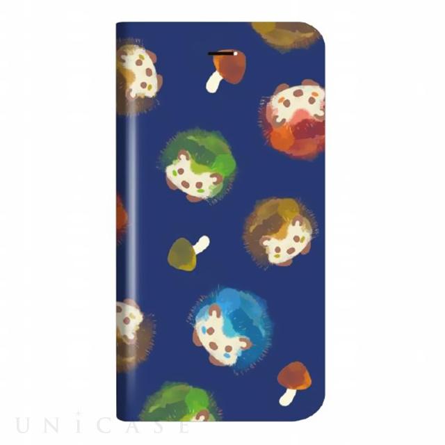 【iPhoneX ケース】薄型デザインPUレザーケース「Design+」 きのことハリネズミ