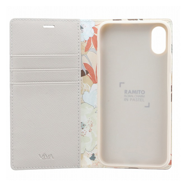 【iPhoneX ケース】手帳型ケース/薄型PU/Ramito Collection/Brunia(Beige)