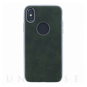 【iPhoneXS/X ケース】シェル型ケース/ソフトPU/Glacier Luxe Heritage/Khaki (Green)