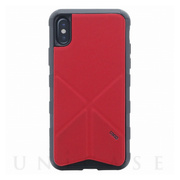 【iPhoneXS/X ケース】シェル型ケース/タフPU/Transforma Rigor/Coral (Red)