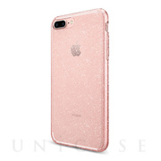 【iPhone8 Plus/7 Plus ケース】Liquid Crystal Glitter (Rose Quartz)