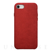 【iPhone8/7 ケース】Ultrasuede Air jacket (Red)