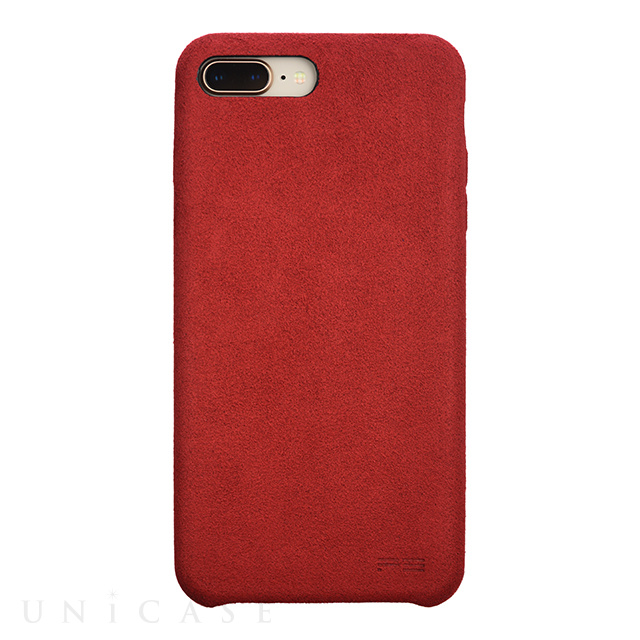 【iPhone8 Plus/7 Plus ケース】Ultrasuede Air jacket (Red)
