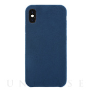 【iPhoneXS/X ケース】Ultrasuede Air jacket (Blue)