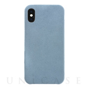 【iPhoneXS/X ケース】Ultrasuede Air jacket (Sky)