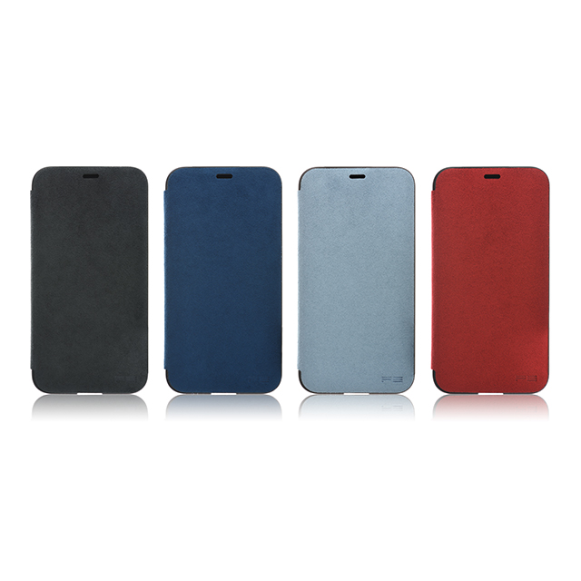 【iPhoneX ケース】Ultrasuede Flip Case (Blue)サブ画像