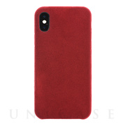 【iPhoneXS/X ケース】Ultrasuede Air jacket (Red)