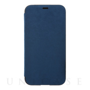 【iPhoneX ケース】Ultrasuede Flip Case (Blue)