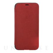 【iPhoneX ケース】Ultrasuede Flip Case (Red)