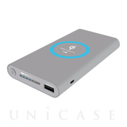 Wireless Charger Power Bank 8000mAh (グレー)