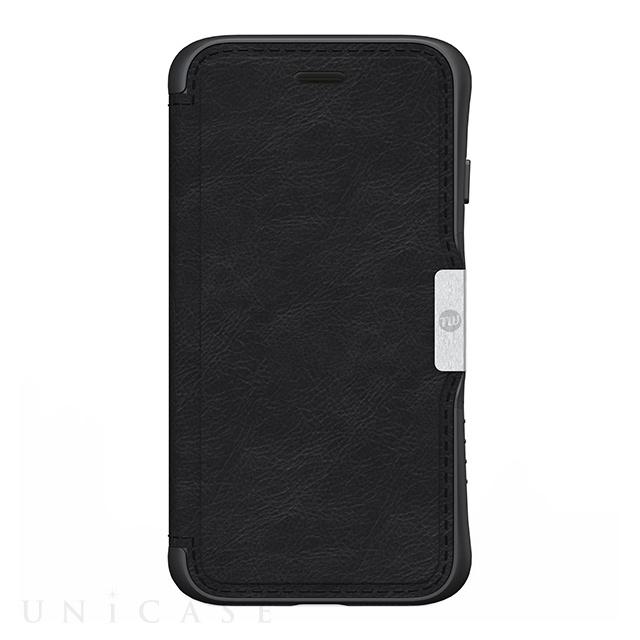 c28481b9f2 ... 【iPhone8/7 ケース】HYBRID CARD FOLIO 耐衝撃手帳型ケース (ブラック ...