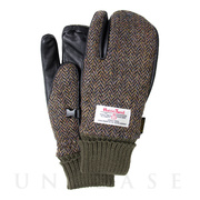 AUZA HARRIS TWEED (BROWN HERRINGBONE) L