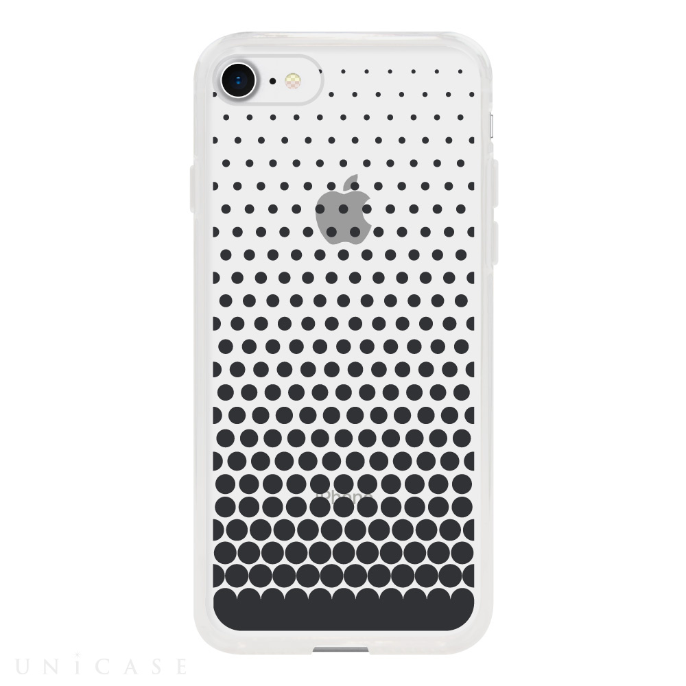 【iPhone8/7 ケース】MONOCHROME CASE for iPhone8/7 (Gradation Dot Black)