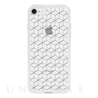 【iPhone8/7 ケース】MONOCHROME CASE for iPhone8/7 (Hexagon Line Black)