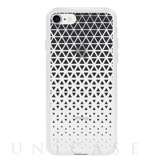 【iPhone8/7 ケース】MONOCHROME CASE for iPhone8/7 (Triangle Pattern Black)
