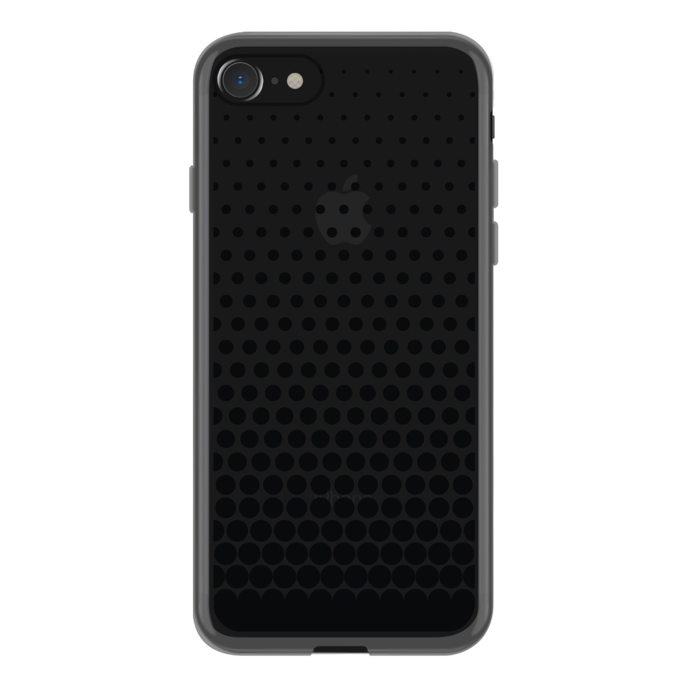 【iPhone8/7 ケース】MONOCHROME CASE for iPhone8/7 (Gradation Dot Black)サブ画像
