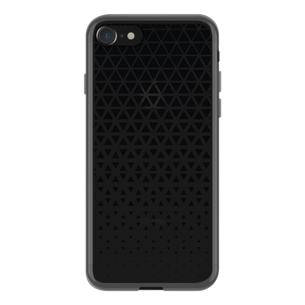 【iPhone8/7 ケース】MONOCHROME CASE for iPhone8/7 (Triangle Pattern Black)サブ画像