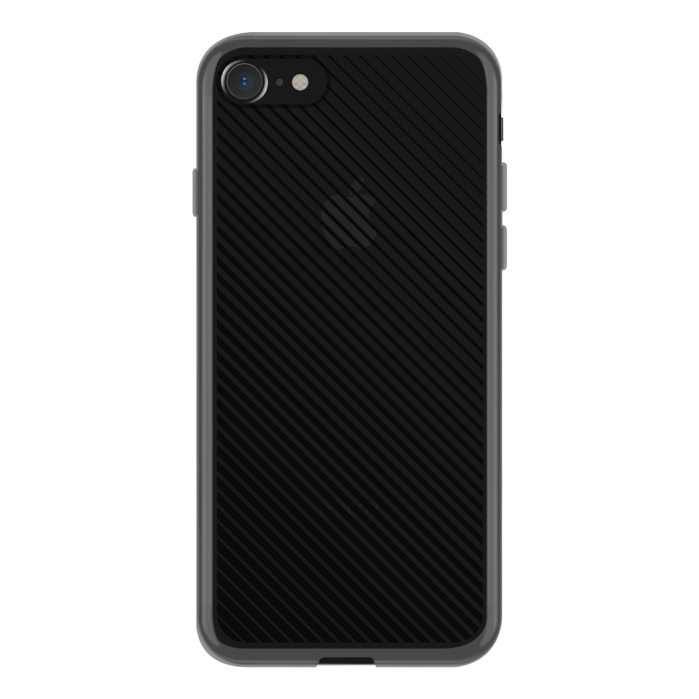 【iPhone8/7 ケース】MONOCHROME CASE for iPhone8/7 (Slash Stripe Black)サブ画像