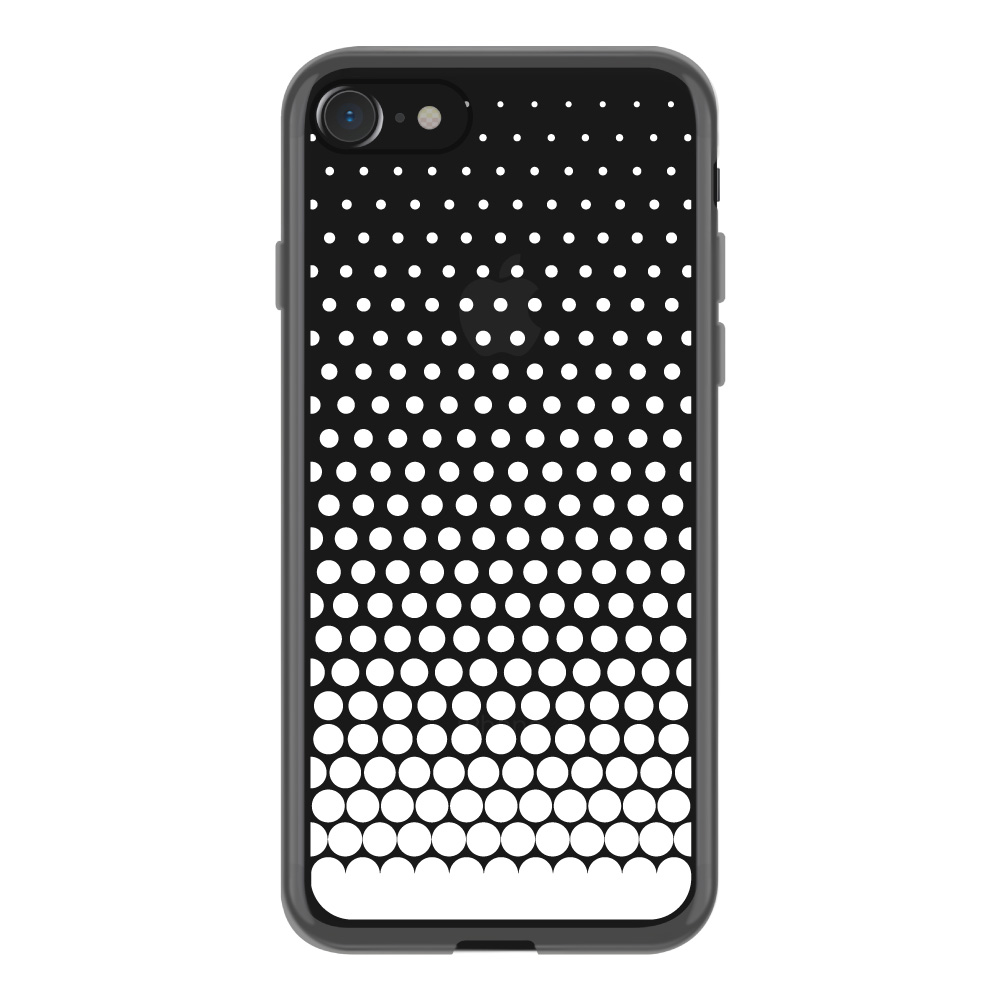 【iPhone8/7 ケース】MONOCHROME CASE for iPhone8/7 (Gradation Dot White)サブ画像