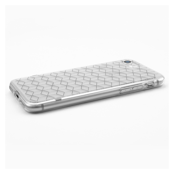 【iPhoneSE(第2世代)/8/7 ケース】MONOCHROME CASE for iPhoneSE(第2世代)/8/7 (Triangle Pattern White)サブ画像