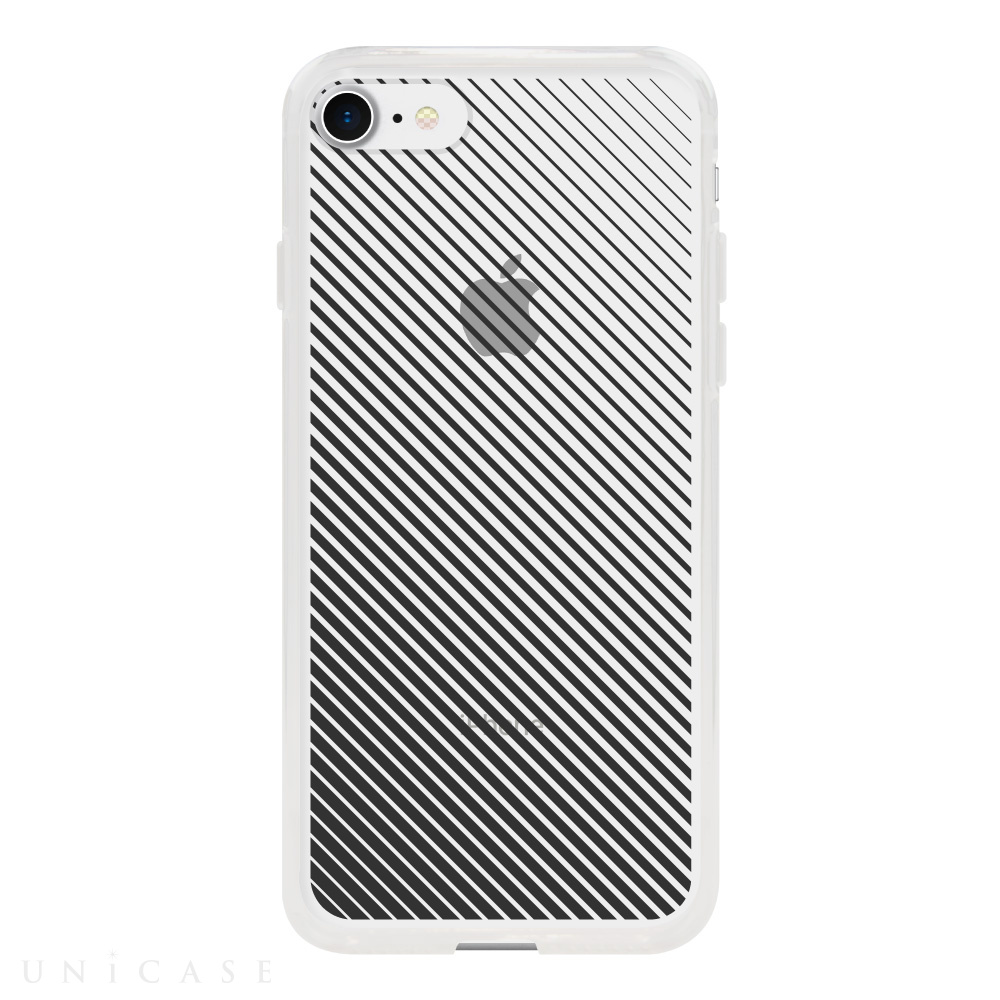 【iPhone8/7 ケース】MONOCHROME CASE for iPhone8/7 (Slash Stripe Black)