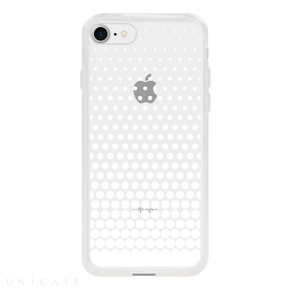【iPhone8/7 ケース】MONOCHROME CASE for iPhone8/7 (Gradation Dot White)