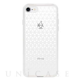【iPhone8/7 ケース】MONOCHROME CASE for iPhone8/7 (Triangle Pattern White)
